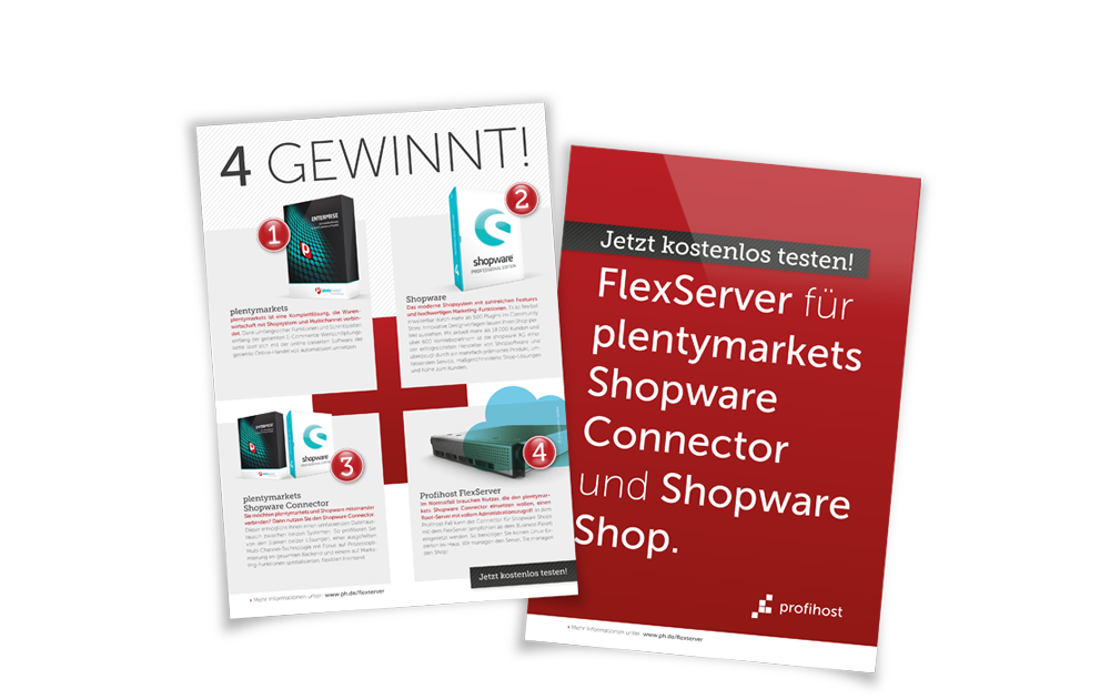 Profihost Messeflyer plentymarkets